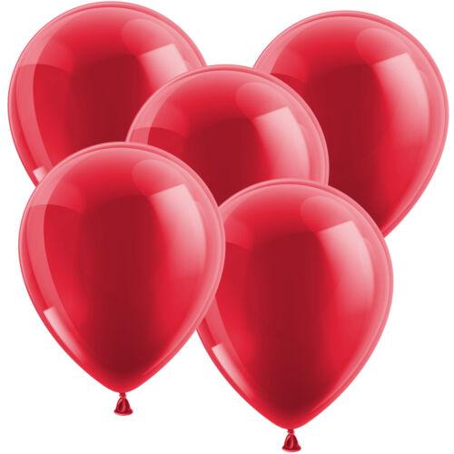 Latex-Luftballons Ø 30 cm Metallicballons 50 Stk bordeaux Dekoballon Raumdeko