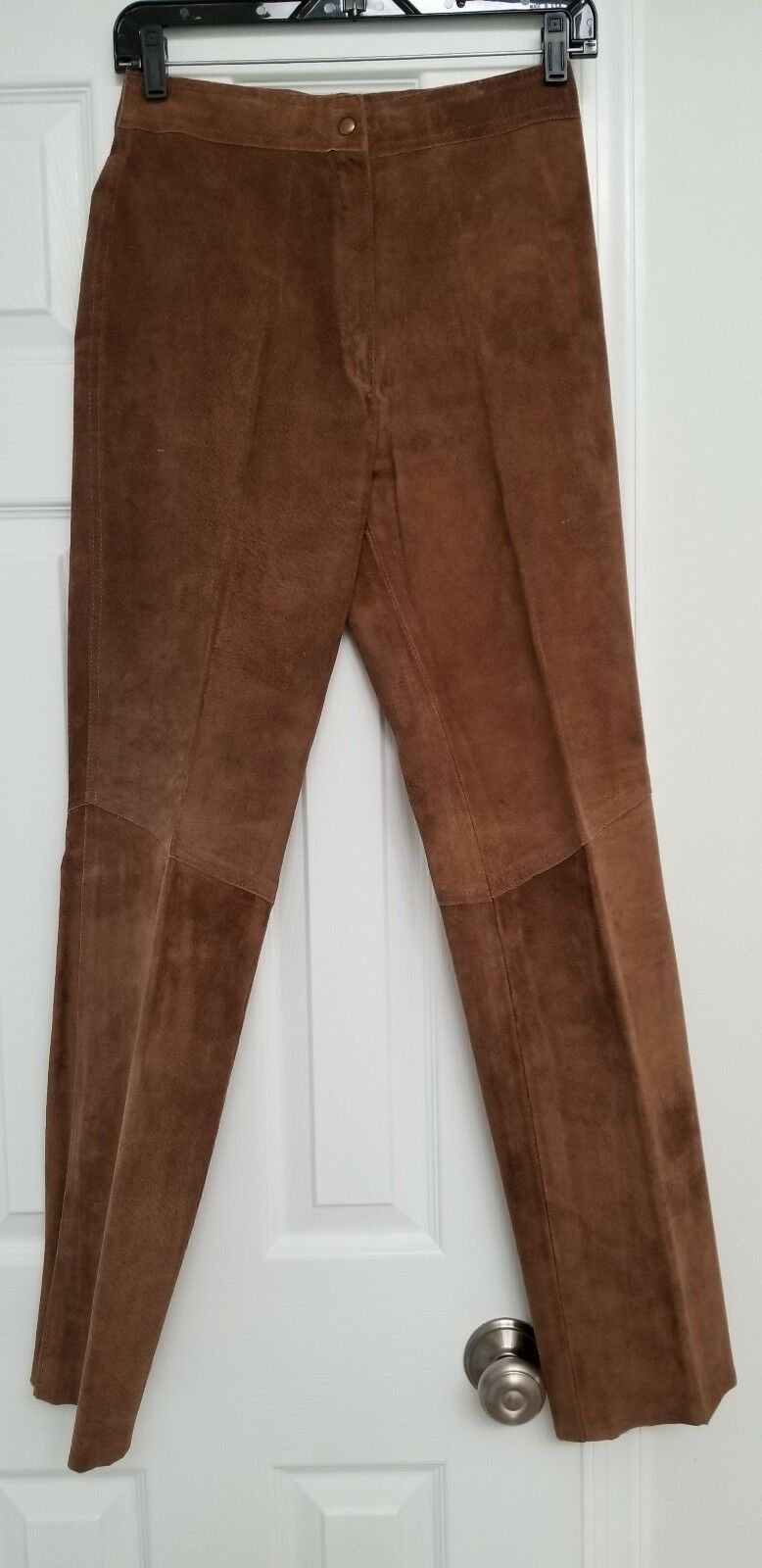 Vintage Brown Suede Leather Pants Women's Size 26