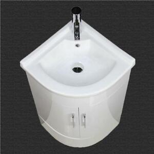 Bathroom Vanity Unit Cabinet Basin Sink Corner Cloakroom Floor