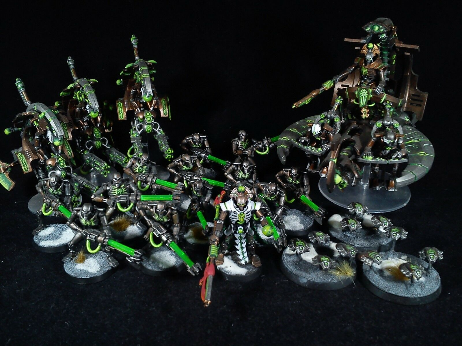 grandi offerte Necrons army 3 warhammer 40k PAINTED PAINTED PAINTED  marchio in liquidazione