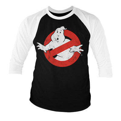 Officially Licensed Ghostbusters Distressed Logo Hoodie S-XXL Sizes