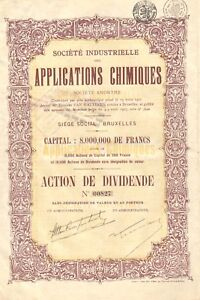 Societe-Industrielle-des-Applications-Chimiques-SA-accion-de-dividendos-1927