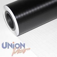 8 x A4 BLACK 3D CARBON FIBRE WRAP VINYL HYPERLEX  (AIR/ BUBBLE FREE) (CAR BIKE)