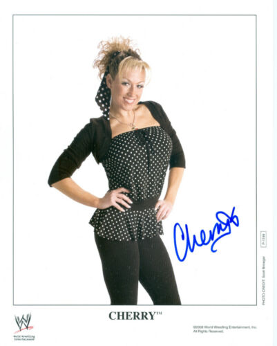 CHERRY WWE DIVA SIGNED AUTOGRAPH 8X10 PROMO PHOTO W// PROOF