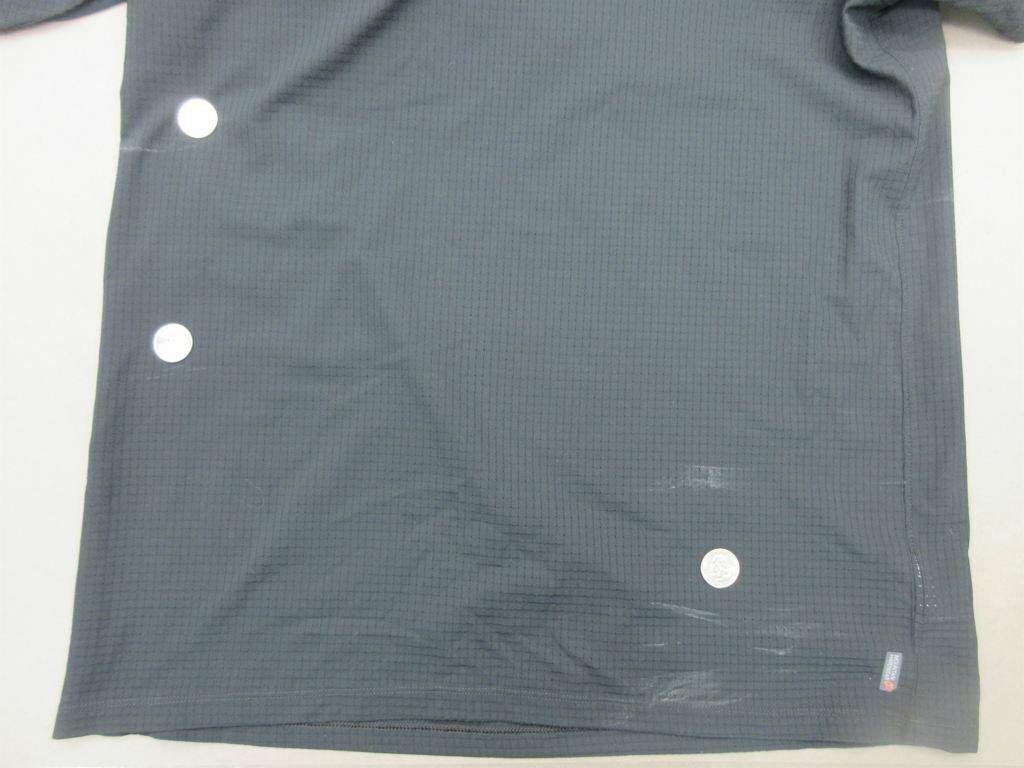 Mountain Hardwear Size L Womens Black Athletic Short Sleeve Jersey T-Shirt T708