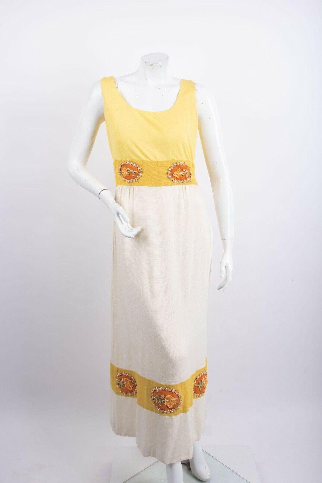 1970's Alice John Rogers Maxi Dress Women's XS/S … - image 1