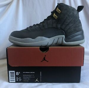official photos 704bb bc2d6 Details about 2017 Nike Air Jordan Retro 12 Dark Grey Wolf Suede Mens Shoe  size 8.5