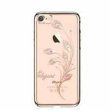 SWAROVSKI Element Foliflora Elegant Back Cover Case for iPhone 7-Rose Gold Frame
