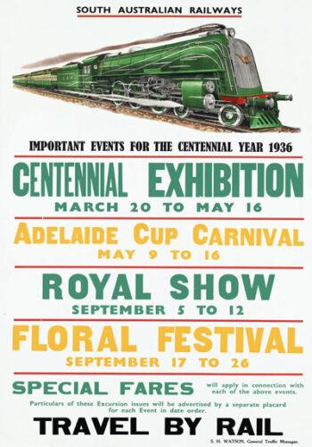 R6 Vintage 1936 South Australian Railways Australia Travel Poster Re-Print A4