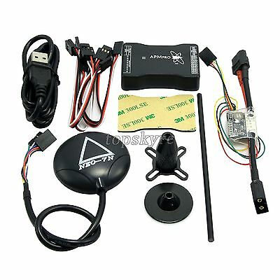 New Mini APM PRO Flight Control w/ Ulbox Neo-7N GPS & Power Module & Data Cable