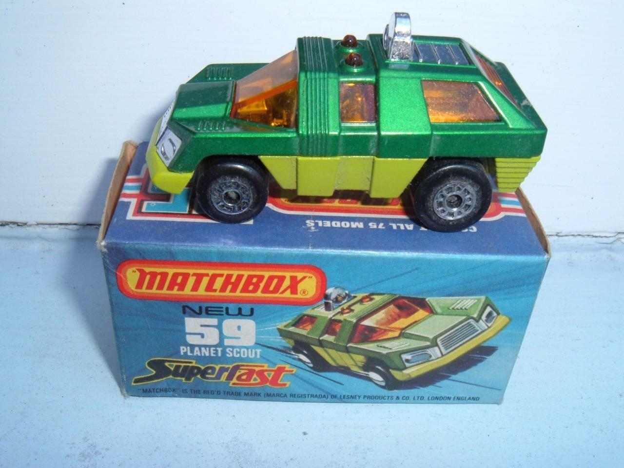 MATCHBOX SUPERFAST e PLANET SCOUT CRUSHED BOX PLEASE SEE PHOTOS