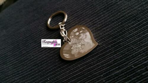 PERSONALISED ENGRAVED KEYRINGS WITH ENRGAVED PHOTO TIME STOOD STILL