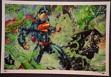 Superman Batman Art Print Jim Lee Limited to 30