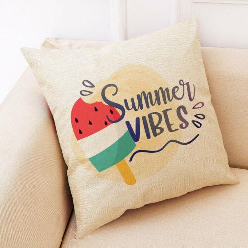 Sofá Fronha Capa De Almofada horário de verão Desenho Animado Frutas Linho Decorativo Para Casa