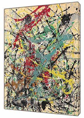 Jackson Pollock Nein 5 Abstrakte Öl Farbe Re Aufdruck auf Gerahmt Leinen Kunst