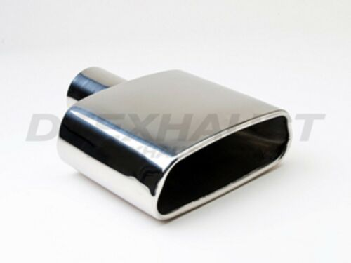 """DT-24105  RECTANGULAR DOUBLE WALL STAINLESS EXHAUST TIP 2.25/"""" INLET 8.5/"""" LENGTH"""
