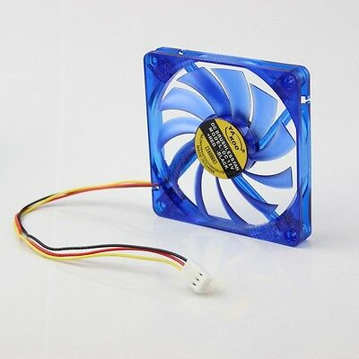1pcs 12V 3Pin 80x80x10mm Blue DC Brushless Case Variable Speed Cooling Fan 8CM