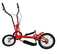 Red 8 Speed Aluminum Street Elliptical Bike Trainer Stable 3-wheel