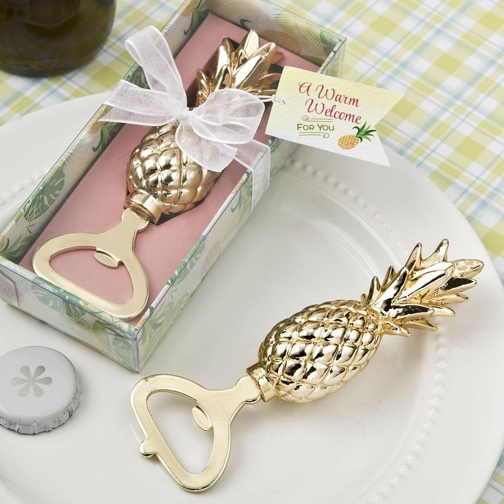 40 or Warm Welcome Pineapple Bottle Openers Wedding Bridal Shower Party Favors