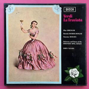 Verdi-la-Traviata-Lorin-Maazel-Doppio-LP-Cofanetto-Decca-Stereo-Set