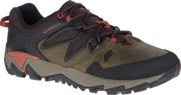 NEW Mens Merrell All Out Blaze 2 Dark Olive Grün Leather Hiking schuhe AUTHENTIC
