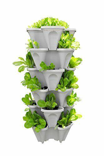 Vertical Tower Garden Pots Herb Strawberry Planter Container