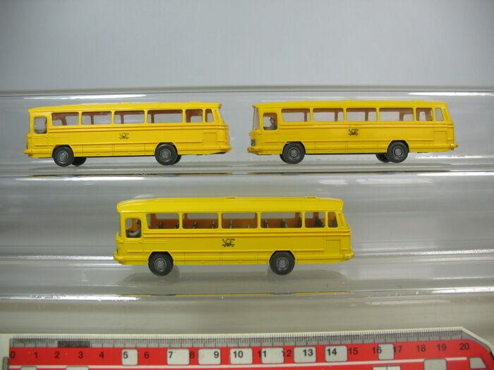 O644-0, 5 X Wiking H0 Models GK 710; MB O 302 Mercedes Bus postbus