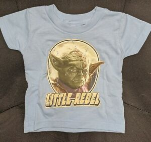 STAR-WARS-DISTRESSED-YODA-LITTLE-REBEL-12M-12-MONTHS-INFANT-BABY-T-SHIRT-TEE-NEW