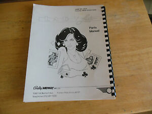 PARTS-ONLY-LADY-LUCK-bally-pinball-MACHINE-manual