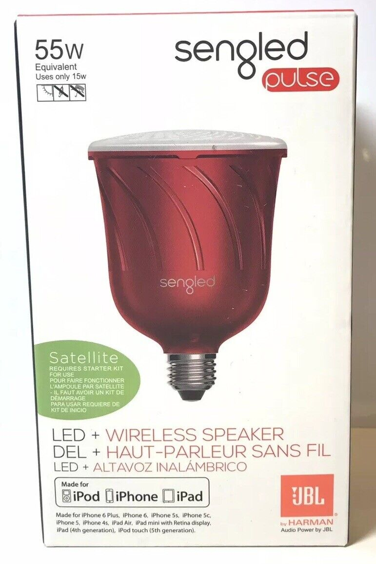 Sengled Pulse Dimmable LED Light with Wireless Speaker 55w  0086