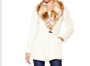 0ff74115063b Women s Winter Church Wool faux fur long Cardigan Sweater coat plus ...