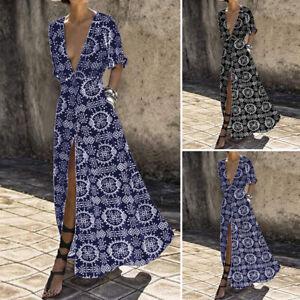 Womens-Short-Sleeve-Floral-Vintage-Party-Cocktail-Dresses-Long-Dress-Plus-Size