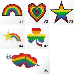 165R-Rainbow-Pride-Love-Message-Craft-Embroidered-Sew-Iron-on-Patch-Badge