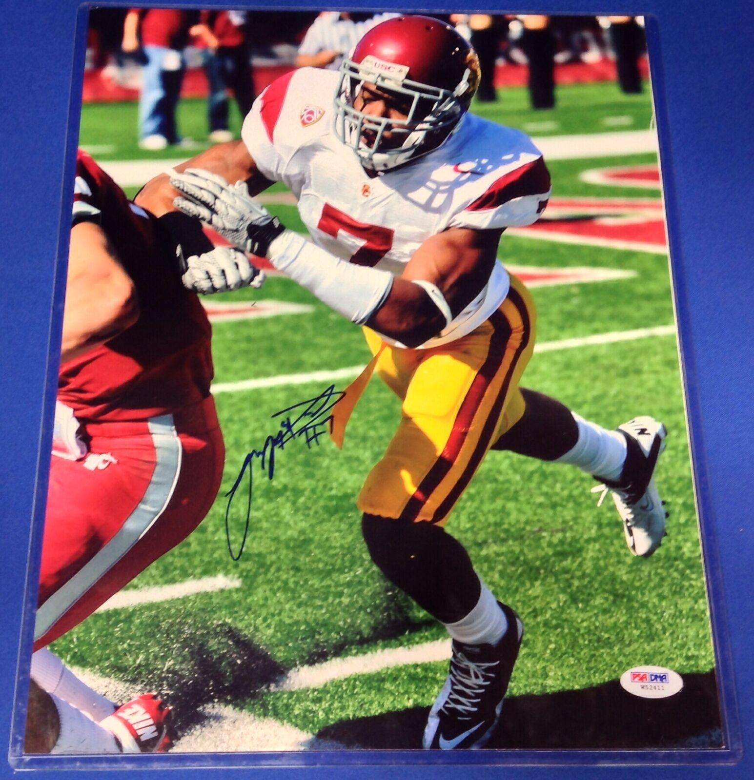TJ McDonald USC Trojans Signed 11x14 Photo PSA/DNA #W52411