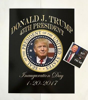 """Donald Trump 45th President 81//2/""""x11 on Card Stock Photo Portrait Picture Decal"""