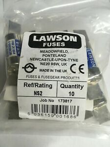 LAWSON-Fuse-NS2-2A-BS88-415V-Cartridge-Fuse-Link-JPSF824-VAT-Invoice