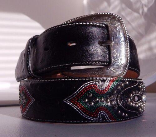 34  C40753  NWT New Tony Lama TWENTY X Leather Belt Sizes 28
