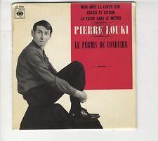 45 tours EP Pierre Louki Le permis de conduire Mon amie la cover girl  1967