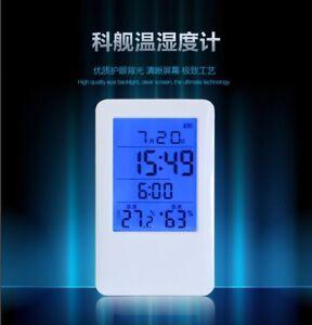MC501 LCD Digital Alarm Clock Temperature Humidity Meter Thermometer