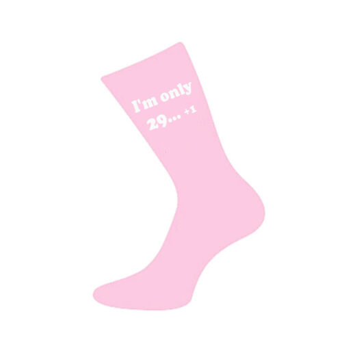 Im only 29 1 Printed Design Ladies Pink Socks 30th Birthday Gift