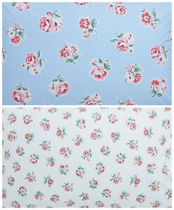 Cath Kidston 50cm square fq Patchwork Rose White spot birds fabric new