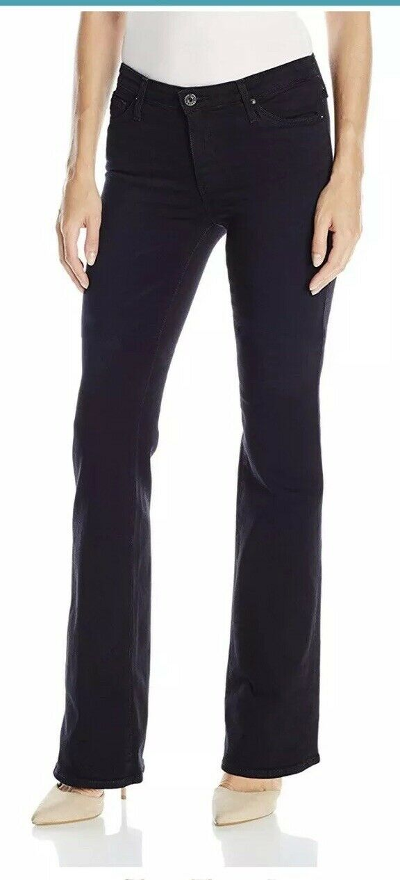 NWT AG ADRIANO goldSCHMIED MID RISE ANGEL BOOT FIT STRETCH JEANS DARK blueE R