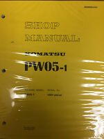 Komatsu Pw05-1 Shop Manual 1001-up