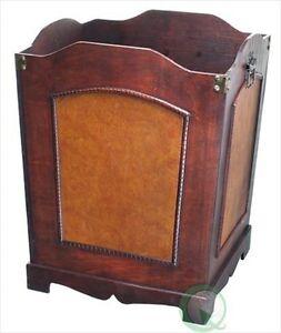 wooden trash bin vintage denote