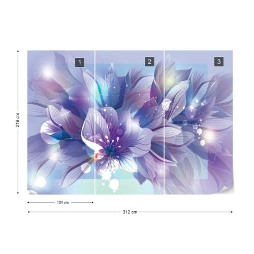Papier peint mural photo facile installer Polaire Abstract Diamants violet decor