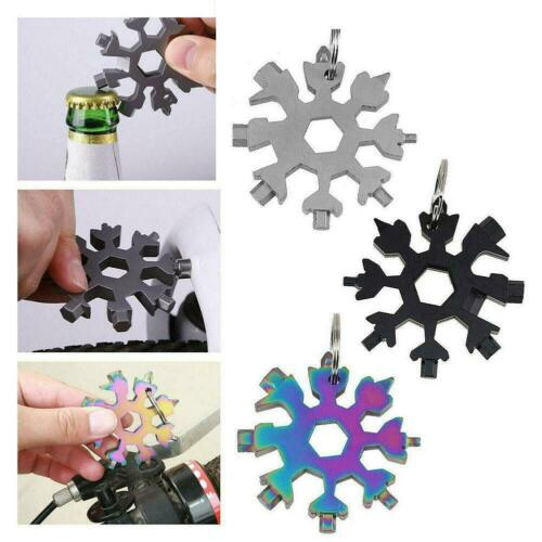 18-in-1 Portable Multi-tool Combination Snowflake Stainless Steel Compact Wrench