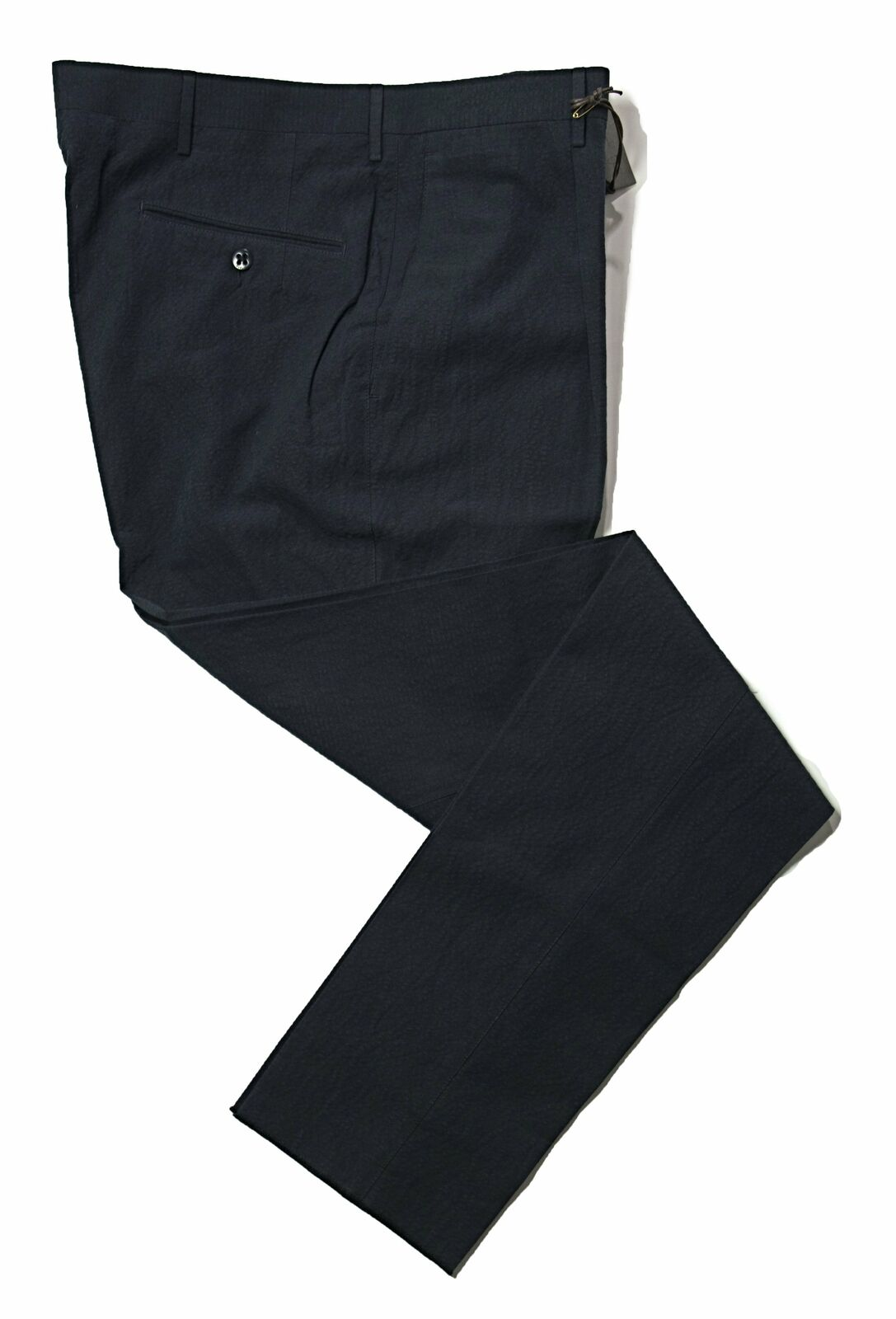 BOGLIOLI Navy bluee Slim-Fit Cotton & Linen Pants  Made in