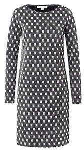 Kleid Schwarz silber Italy amp;piu Lurexfäden Piu Neu 40 Gr XIqPZvUwx
