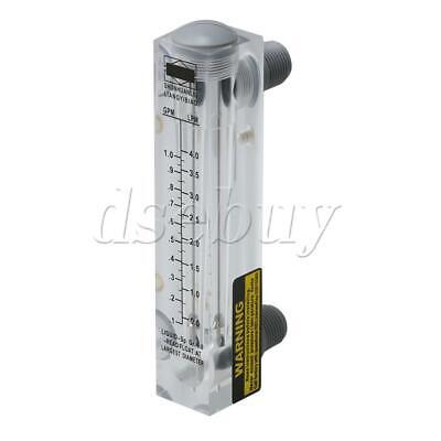 """2Pieces LZM-15 Acrylic Flowmeter Panel Type 0.2-2GPM 1-7LPM 1/"""" Male Thread"""