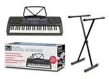 NJS 54 Key Digital Beginner Keyboard Mic Headphones USB With X Frame Stand